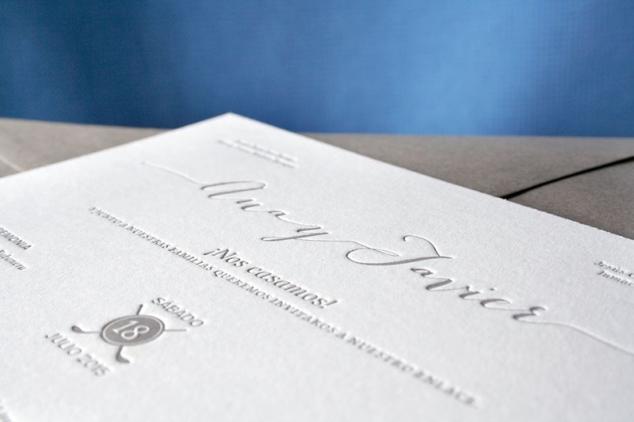 Invitación boda estilo clásico