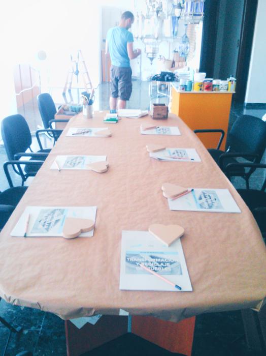 Mesa para el taller en Liderlamp