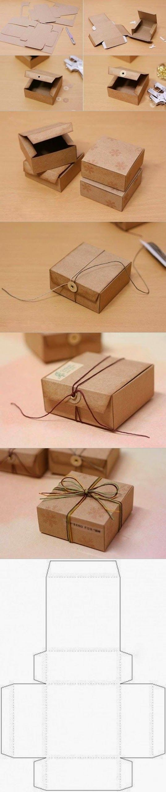 http://diy-craft.blogspot.mx/2014/03/diy-gift-box-from-cardboard.html